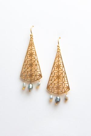 Boucles d'oreilles Triangle d'Orient