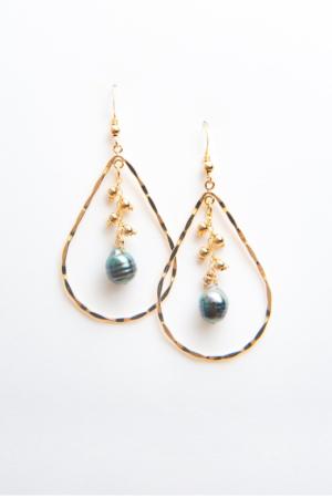 Créoles gouttes Perles de Tahiti